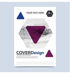 Cover design for annual report vector