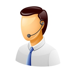 customer support icon vector image
