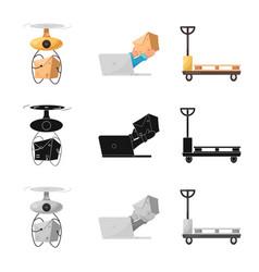 Design of goods and cargo symbol set of vector