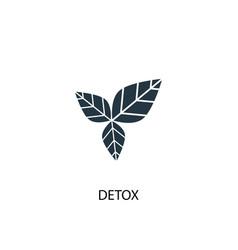 Detox icon simple element detox vector