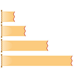 Different length of brown banner vector