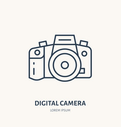 digital camera flat line icon photography vector image