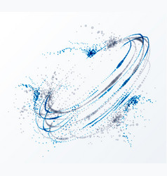 Dotted particle whirl flowing abstract background vector