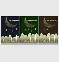 Eid flyer design template vector