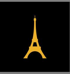 eiffel tower logo symbol vector image