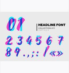 Expressive decorative typography display type vector