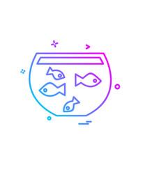 fish bowl icon design vector image