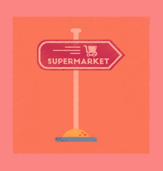 flat shading style icon supermarket sign vector image