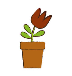 flower in a pot icon vector image