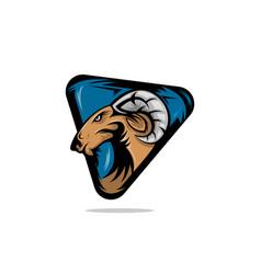 Goat head mascot logo vector