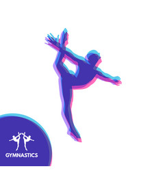 gymnast silhouette of a dancer gymnastics vector image