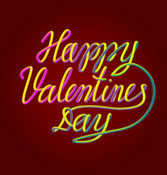 Happy valentines day colorful blended 3d vector