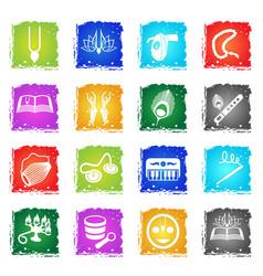 Hare krishna web icons vector