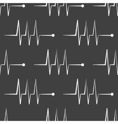 Heart rhythm web icon flat design Seamless gray vector