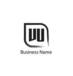 initial letter vu logo template design vector image