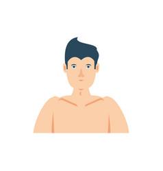 Isolated male torso icon design vector