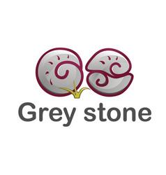 Logo templates grey stone vector
