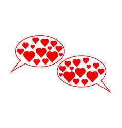 love date icon compliments conversation of two vector image