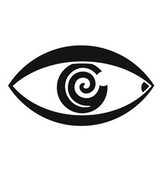 Magic eye hypnosis icon simple style vector