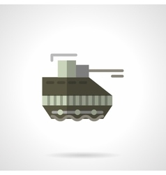 Military robots flat color icon Tank vector image