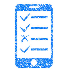 Mobile todo list grunge icon vector