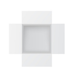open paper box white mockup top view vector image
