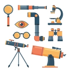 Optical tools collection isolated vector image