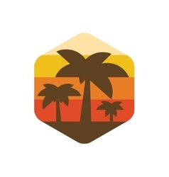 palm trees on the island of paradise earth vector image