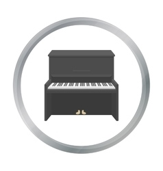 Piano icon in cartoon style isolated on white vector image