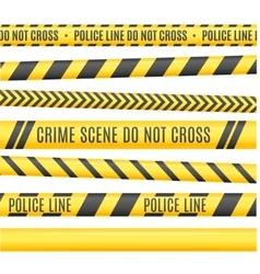 Police Line Set vector image