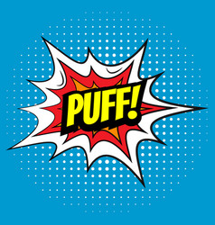 pop art comics puff speech bubble vector image