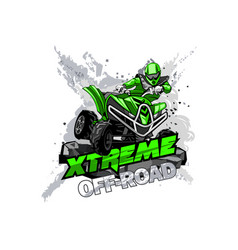 Quad bike off-road atv logo extreme off-road vector