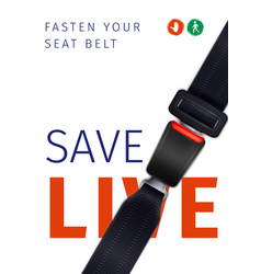 realistic seat belt poster vector image