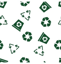 Recycle Seamless Seamless Flat Pattern vector image