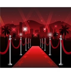 Red carpet movie premiere elegant event hollywood vector