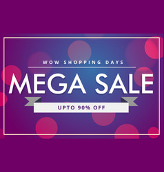 sale discount voucher template in modern style vector image