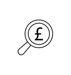 Search magnifier pound icon element of finance vector
