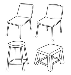 set chair vector image