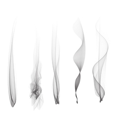 Set of smoke effect smooth flame vector