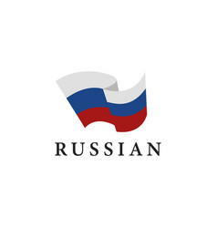 simple flag russia on white background vector image