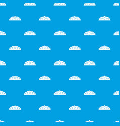 small crown pattern seamless blue vector image