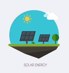 Solar energy Landscape and industrial factory vector