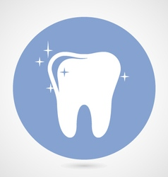 Sparkling tooth icon - dentistry symbol vector