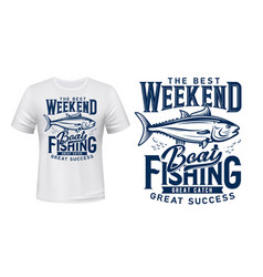 t-shirt print tuna fish fishing club vector image