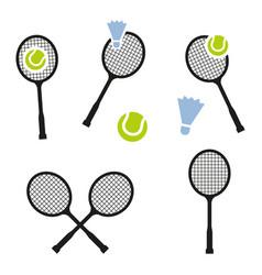 tennis racket sign icon sport symbol vector image