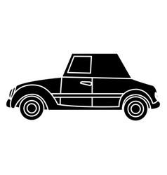 wedding car transport old fashion style vector image