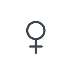 woman gender symbol related glyph icon vector image