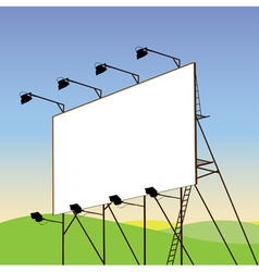 advertising billboard vector image