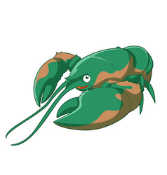 cartoon smiling lobster vector image