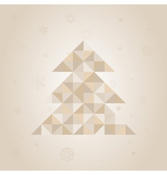 Christmas tree a triangle vector image vector image
